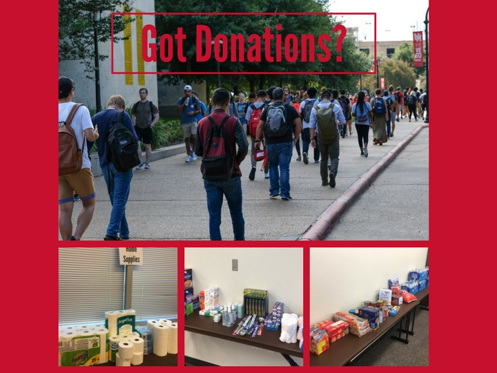 Coogs Care: Students hold Donation Drives on Campus for UH Harvey Victims