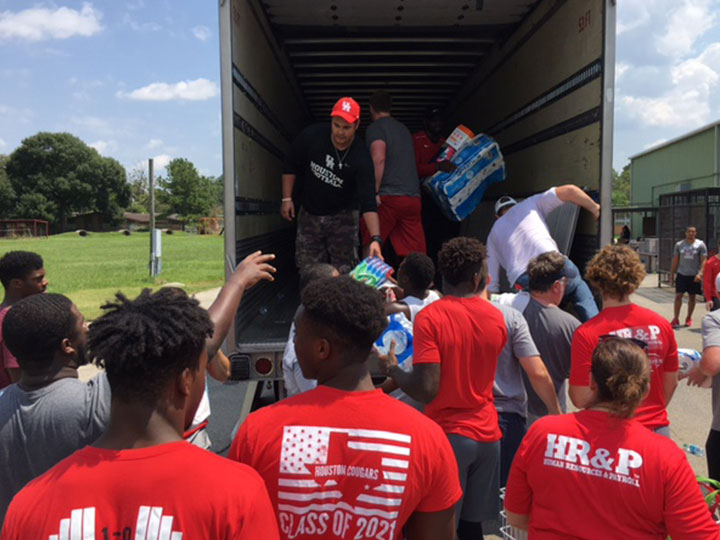 UH Football Spearheads Donations From Texas Schools
